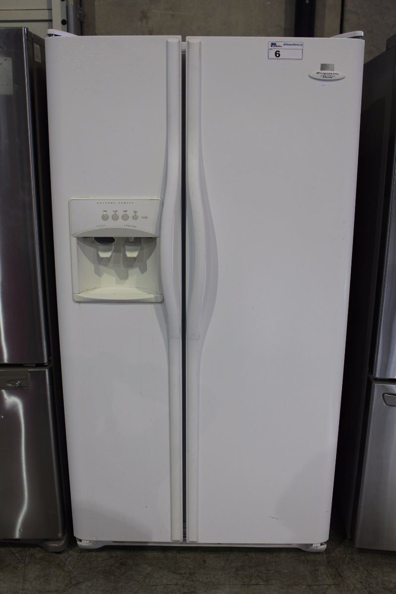 frigidaire electrolux gallery series side by side white fridge with