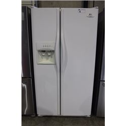 FRIGIDAIRE ELECTROLUX GALLERY SERIES SIDE BY SIDE WHITE FRIDGE WITH ICE AND WATER DISPENSER