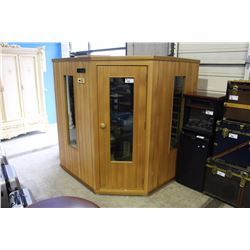 LARGE CORNER UNIT INFRARED SAUNA WITH BUILT-IN STEREO SYSTEM