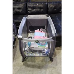 CHILDS PLAYPEN WITH BABY RELATED PRODUCTS