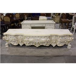 APPROX 9' WIDE FANCY FRENCH STYLE ENTERTAINMENT STAND
