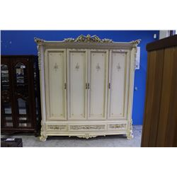 BEAUTIFUL FRENCH STYLE 7' WIDE WARDROBE CABINET