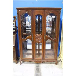 LARGE BEVELLED GLASS CHINA CABINET
