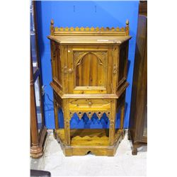 BEAUTIFULLY CARVED PINE CABINET