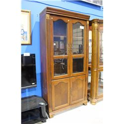 LARGE BEVELLED GLASS BOOKCASE CABINET