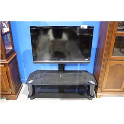 SONY BRAVIA TV WITH GLASS AND METAL STAND