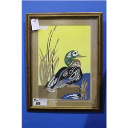 "LIMITED EDITION NATIVE PRINT ""MALLARD AND FROG"""