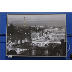 FRAMED CITYSCAPE OF PARIS