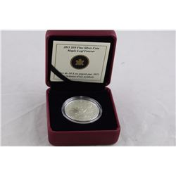 .9999 SOLID SILVER R.C. MINT 2011 BOXED CANADA SILVER MAPLE LEAF COIN, TAX EXEMPT