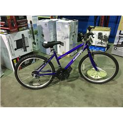 NEXT 18 SPEED YOUTH SIZED MOUNTAIN BIKE - PURPLE