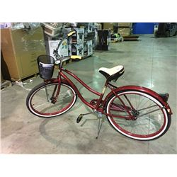 HUFFY SINGLE SPEED CRUISER - RED
