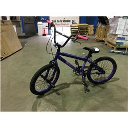 BRAZEN SINGLE SPEED BMX BIKE - PURPLE
