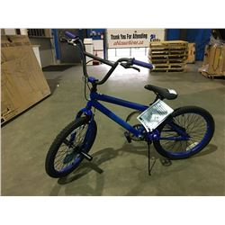 BRAZEN SINGLE SPEED BMX BIKE - BLUE