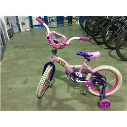 HUFFY LITTLE PRINCESS GIRLS BIKE WITH TRAINING WHEELS