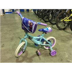 HUFFY DISNEY'S FROZEN GIRLS BIKE WITH TRAINING WHEELS