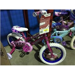 HUFFY SEA STAR GIRLS BIKE WITH TRAINING WHEELS