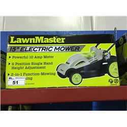 "LAWN MASTER 15"" ELECTRIC MOWER"