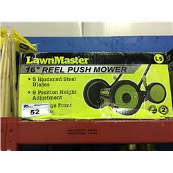 "LAWN MASTER 16"" REEL PUSH MOWER"