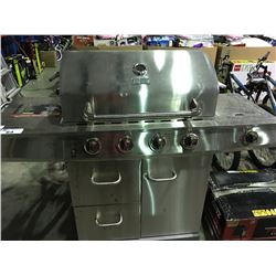 BACK YARD GRILL STAINLESS STEEL 4 BURNER GAS GRILL