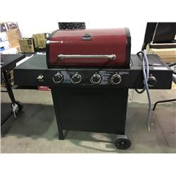 BACK YARD GRILL RED LID 4 BURNER GAS  BBQ