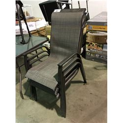 GROUP OF 3 OUTDOOR PATIO CHAIRS