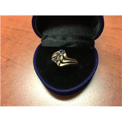 10K GOLD LADIES BLUE SAPPHIRE RING