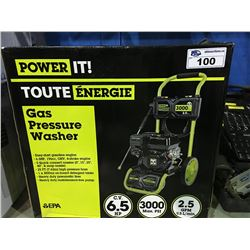 POWER IT GAS PRESSURE WASHER 3000PSI