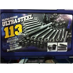 ULTRA TUFF ULTRA STEEL 113 PIECE MECHANICS TOOL SET