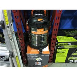KUBOTA 5 GALLON WET/ DRY STAINLESS STEEL VACUUM