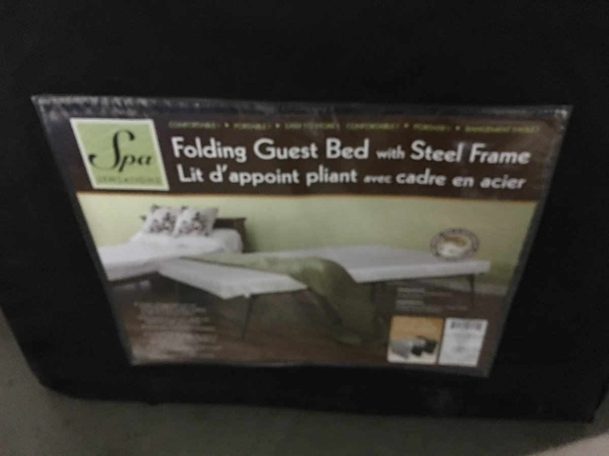 Spa Sensations Folding Guest Bed With Steel Frame