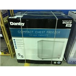 DANBY COMPACT CHEST FREEZER - WHITE ( MINOR SCRATCHES & DENTS MAY BE PRESENT)