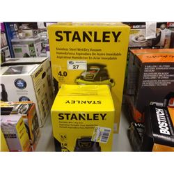 2 STANLEY WET/DRY VACUUMS