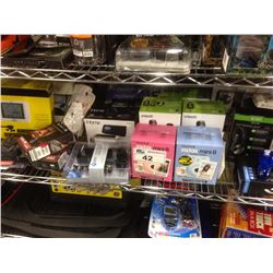 LOT OF ASSORTED ELECTRONICS INCLUDING CAMERAS, BABY MONITOR, HEADPHONES, ETC.