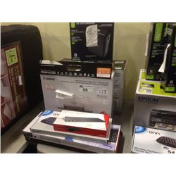 LOT OF ASSORTED ELECTRONICS INCLUDING PRINTER, PAPER SHREDDER, KEYBOARDS, ETC.