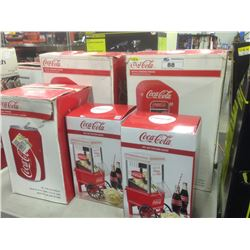 COCA COLA VENDING FRIDGE, CAN FRIDGE AND POPCORN MAKER, ETC.