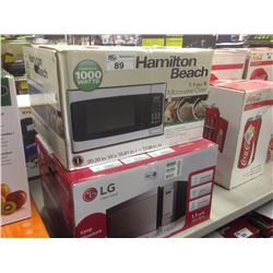 LOT OF TWO MICROWAVE OVENS HAMILTON BEACH AND LG