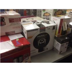 LOT OF HOUSEHOLD ITEMS INCLUDING KEURIG, SLOW COOKER, KNIFE SET ETC.