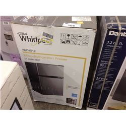 WHIRLPOOL 2 DOOR REFRIGERATOR/FREEZER 3.1 CUBIC FEET