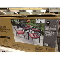 MONTCLAIR 4 PIECE CUSHIONED DINING SET (CHAIRS ONLY)