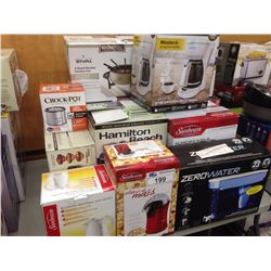LOT OF HOUSEHOLD ITEMS INCLUDING  KEURIG, POWER PRESSURE COOKER, FONDUE, ETC.