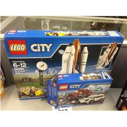 LEGO CITY SPACEPORT 60080 AND POLICE PURSUIT 60128