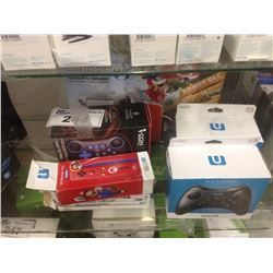 WII ACCESSORIES INCLUDING CONTROLLERS, GAMES, NINTENDO  MARIO KART 8 DELUXE SET