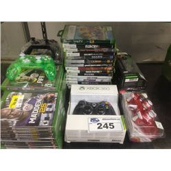 XBOX ONE/XBOX 360 GAMES PLUS XBOX 360 CONTROLLERS