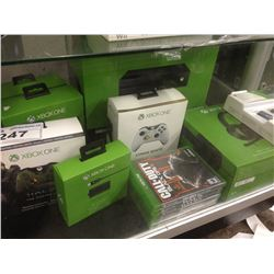 XBOX ONE CONSOLE AND ACCESSORIES INCLUDING GAMES, CONTROLLERS AND STEREO HEADSET, ETC.