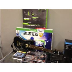 XBOX ONE GUITAR HERO, SKY VIPER DRONE,  FIREPOWER 2 - .45 AIRSOFT GUNS ETC.