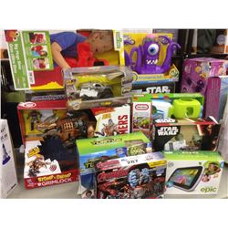LOT OF TOYS INCLUDING AVENGERS, ELMO, STAR WARS ETC.