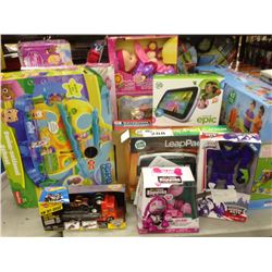 LOT OF TOYS INCLUDING VTECH, LEAP PAD, DISNEY, MY SWEET BABY ETC.