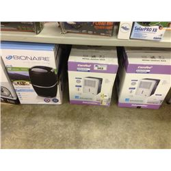 LOT OF DEHUMIDIFIERS AND FLOOR FAN