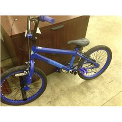 BLUE HUFFY BRAZEN SINGLE SPEED BMX BIKE