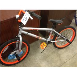 GREY & ORANGE WICKED MACABRE SINGLE SPEED STUNT BIKE
